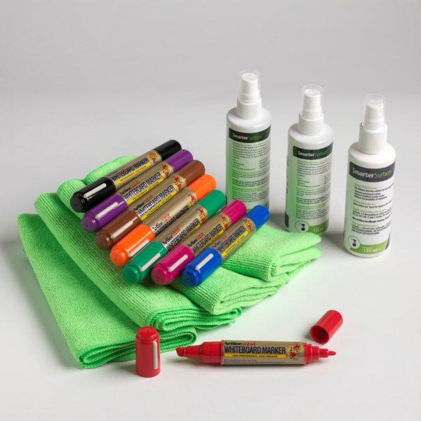 kit d'accessoires pour tableau blanc pro de Smarter Surfaces