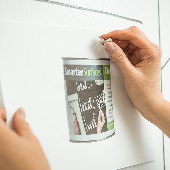 mur aimanté avec peinture magnétique smarter surfaces