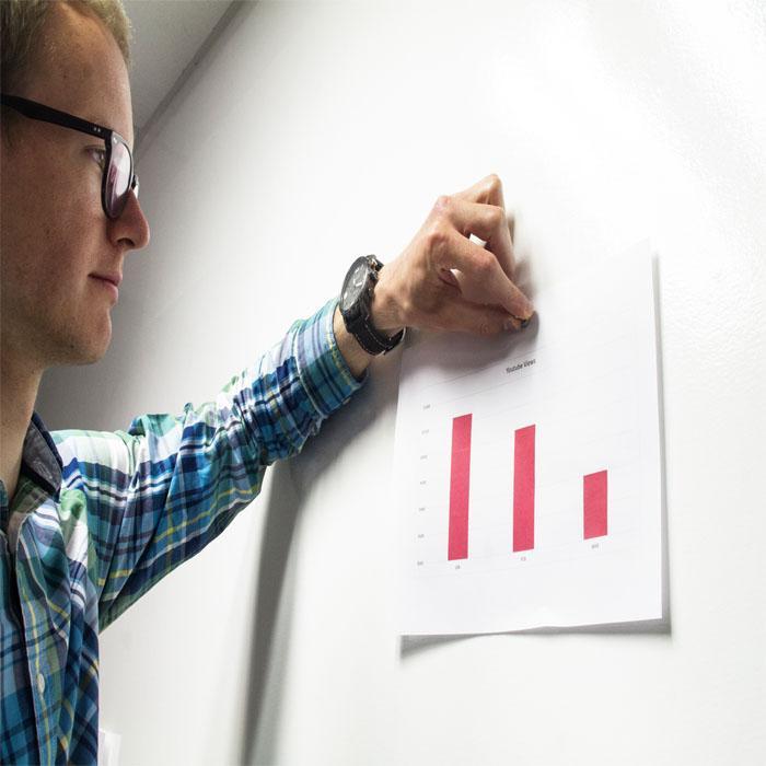 papier peint en vinyle aimanté pour travailler au bureau