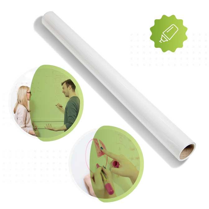 rouleau du papier peint tableau blanc smart en blanc de Smarter Surfaces