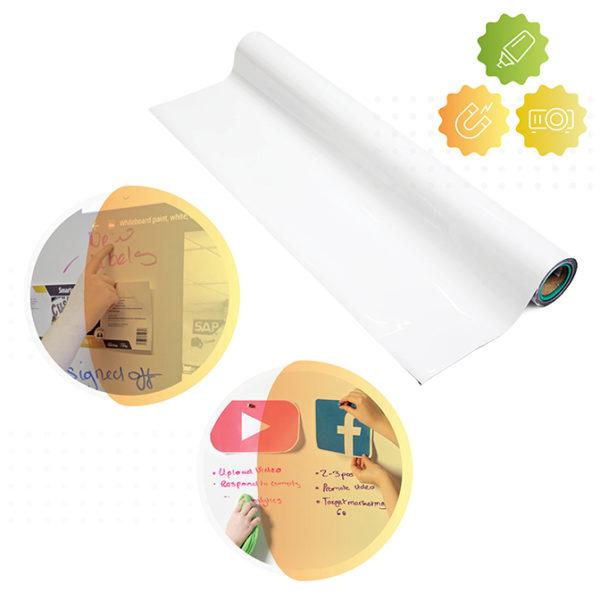 Papier Peint Magnétique, Tableau Blanc & Projecteur Smart
