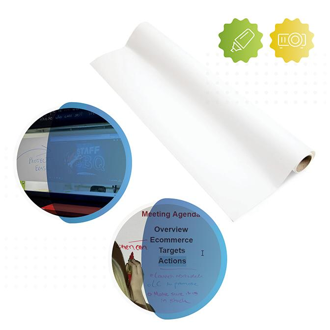 rouleau du film autocollant tableau blanc et projectable Smart de Smarter Surfaces