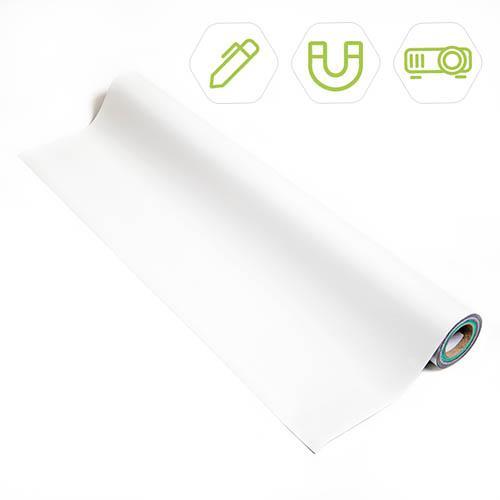 rouleau de papier peint magnetique tableau blanc et projetable