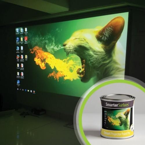 Boîte de la peinture projecteur smart pro et peinture projection pendant son utilisation