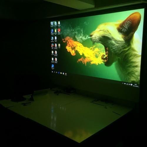 Image projetée sur un mur de projection peint avec la peinture projecteur smart pro
