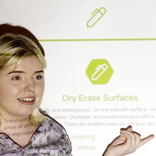 Peinture de projection smart pro utilisée pendant des présentations