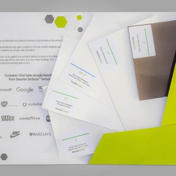 Pack des Échantillons Film Autocollant Tableau Blanc Smarter Surfaces