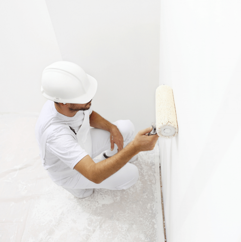Installation-de la Peinture Tableau Blanc Antimicrobes Smart - Blanche