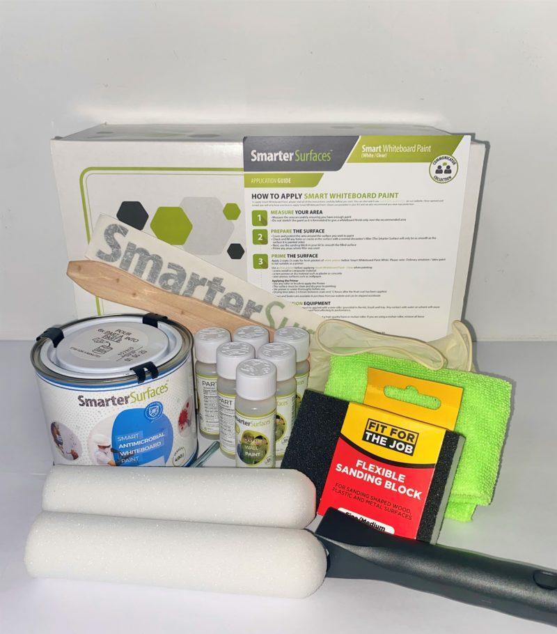 Peinture Tableau Blanc Antimicrobes Smart - Blanche - Kit complet