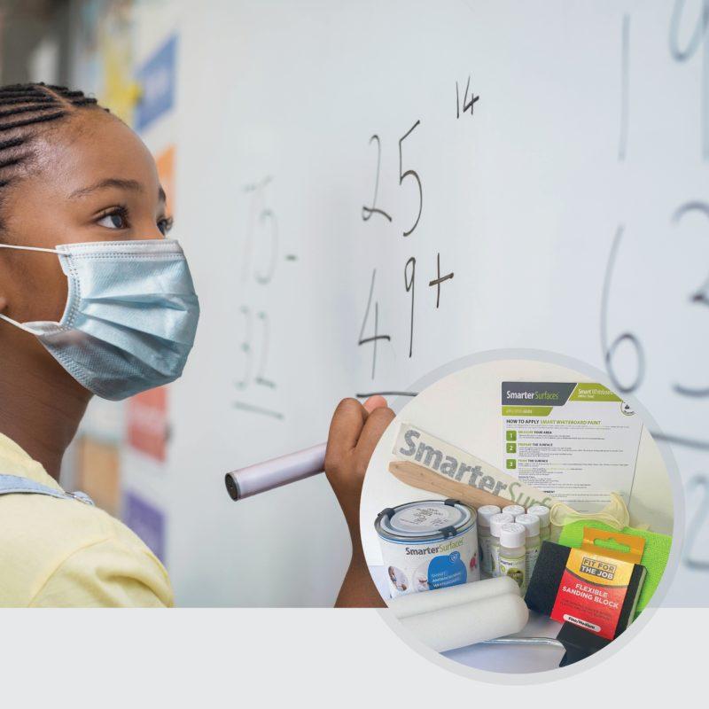 Smarter-Surfaces-Peinture-Tableau-Blanc-Fille-avec-masque-et-contenu-du-produit